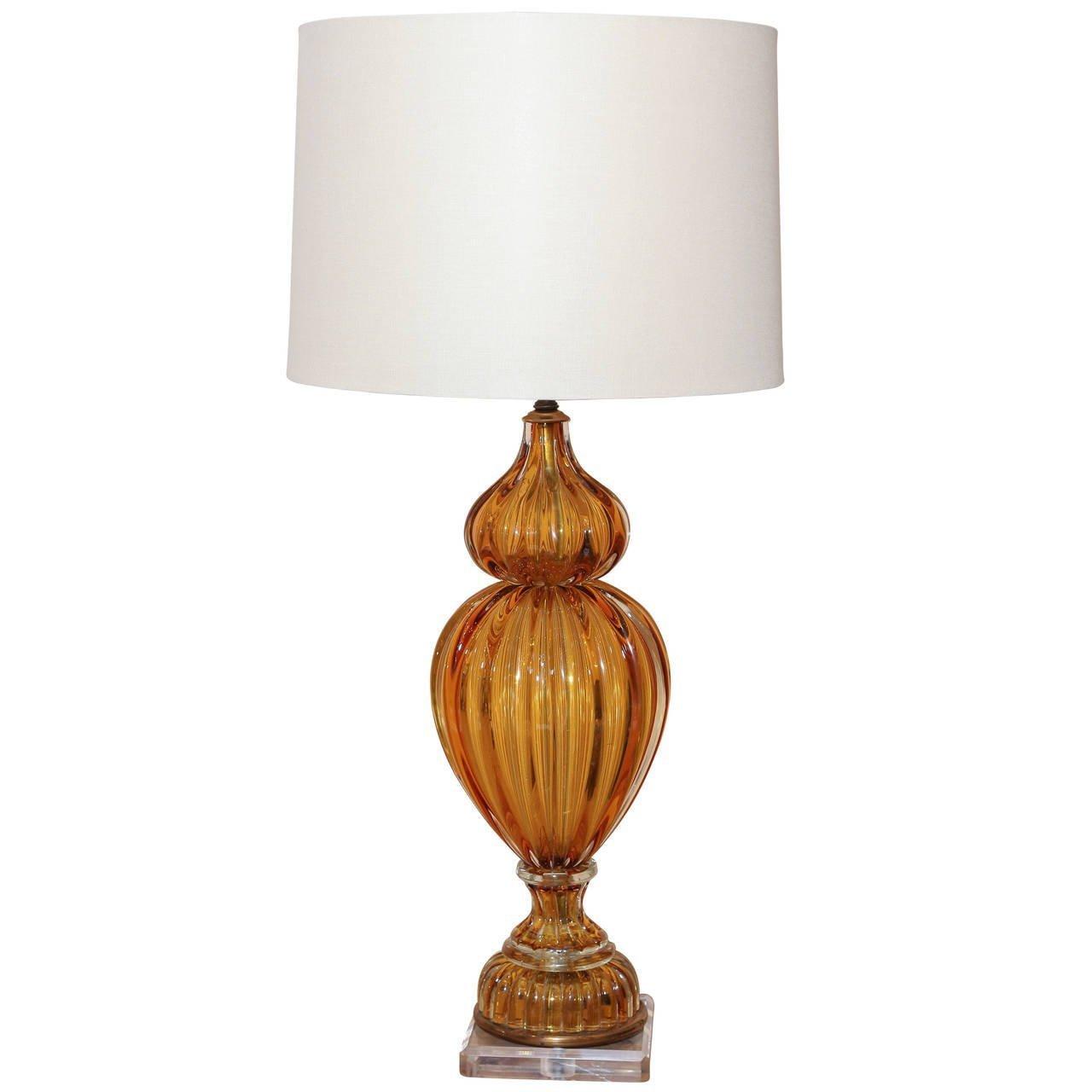 murano glass lamp skelton culver